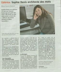 Article du Telegramme – 5 février 2014